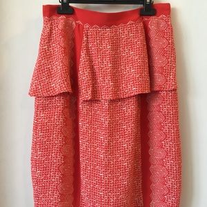 Anthropologie Plenty Ruffle Peplum Pencil Skirt